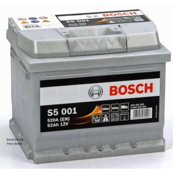 Baterie Bosch 12V 52AH/520A L- 207X175X175 S5
