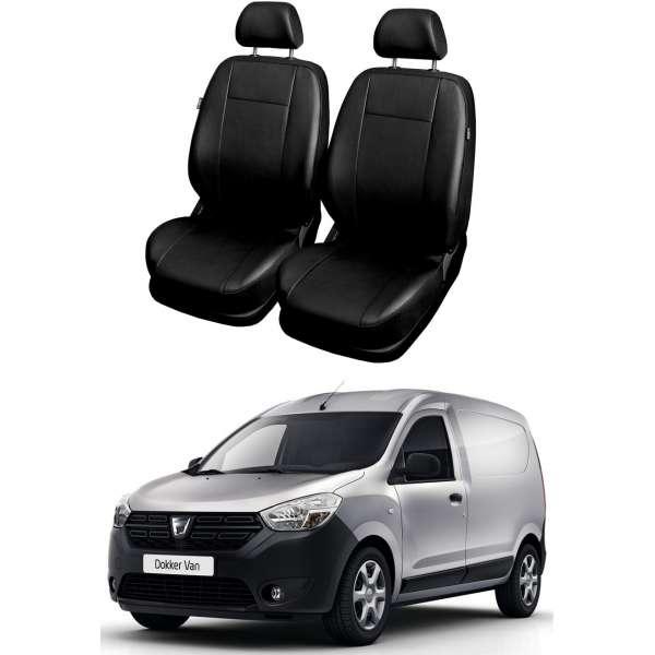 Huse Scaune din piele  Dacia Dokker van 2 locuri (1+1) 2012-2019