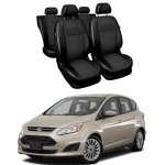 Huse Scaune Ford C-MAX 2013-2017 din piele si material textil