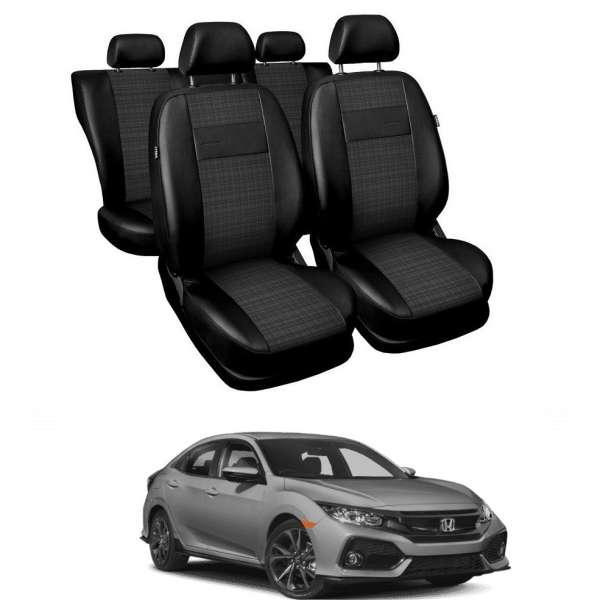 Huse Scaune din piele si material textil Honda Civic sedan/hatchback 2015-2019