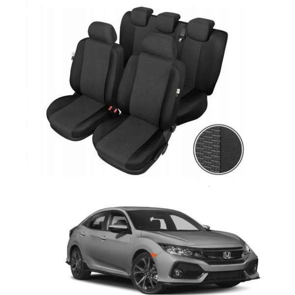 Huse Scaune Dedicate Honda Civic sedan/hatchback 2015-2019 Premium Bancheta Fractionata