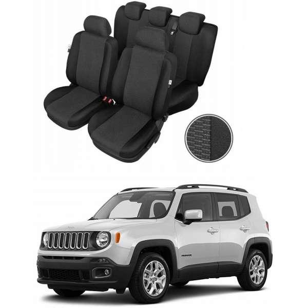 Huse Scaune Dedicate Jeep Renegade 2014-2019 Premium Bancheta Fractionata