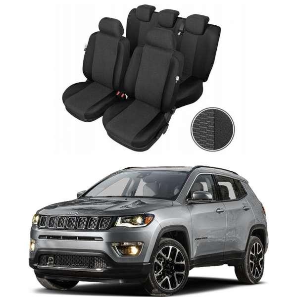 Huse Scaune Dedicate Jeep Compass 2012-2019 Premium Bancheta Fractionata