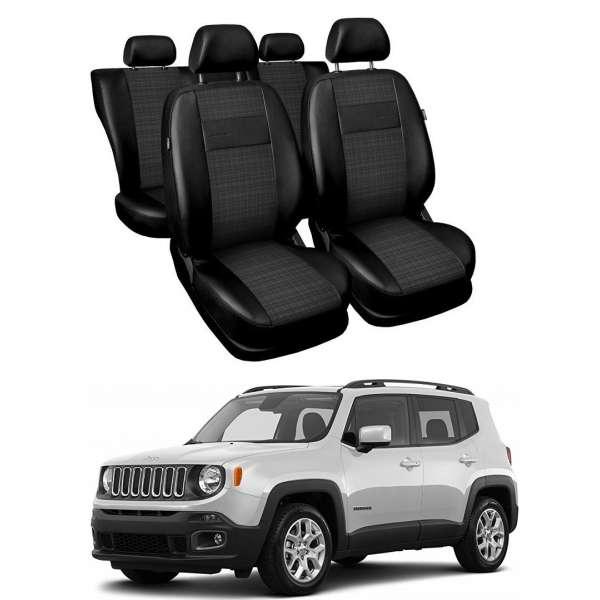 Huse Scaune din piele si material textil Jeep Renegade 2014-2019