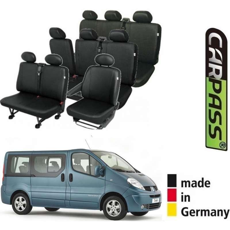 Scaune Renault.Huse Scaune Dedicate Renault Trafic 8 1 Locuri 9 Locuri 2001 2014 Premium