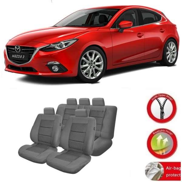 Huse Scaune Dedicate Mazda 3 sedan/hatchback 2013-2017 Premium