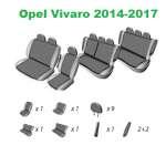 Huse Scaune Dedicate Opel Vivaro 8+1 Locuri  2014-2017 Premium