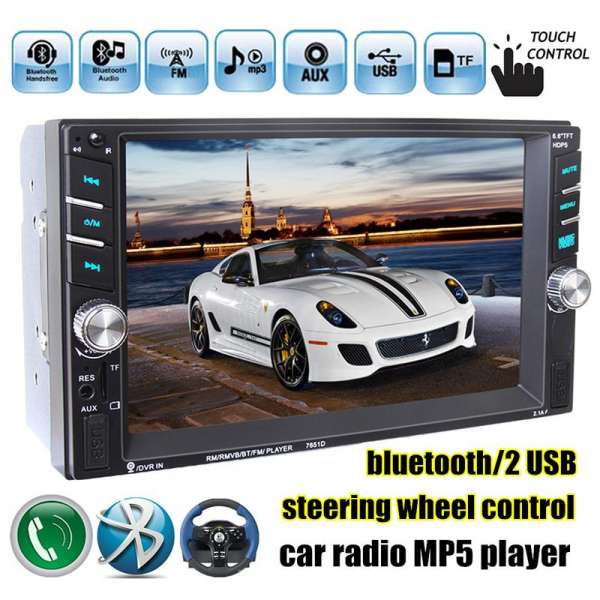 Dvd Player Auto Multimedia Touch screen Mp5,Bluetooth Tv, Usb Compatibil Vw Polo 2000-2013
