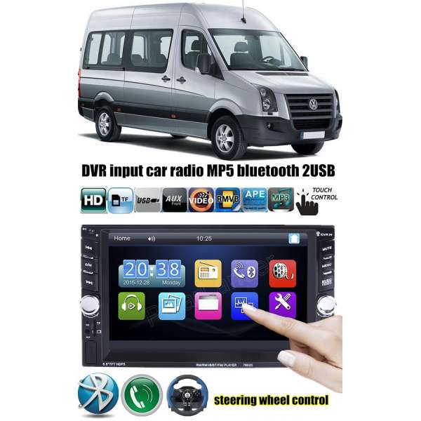 Dvd Player Auto Multimedia Touch screen Mp5,Bluetooth Tv, Usb Compatibil Vw Crafter 2006-2015