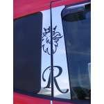 Ornament Cabina Portiera Geam Scania R  (din inox)