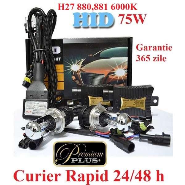Kit Xenon H27 880,881 6000k 75 W Premium Plus Aprindere Instanta