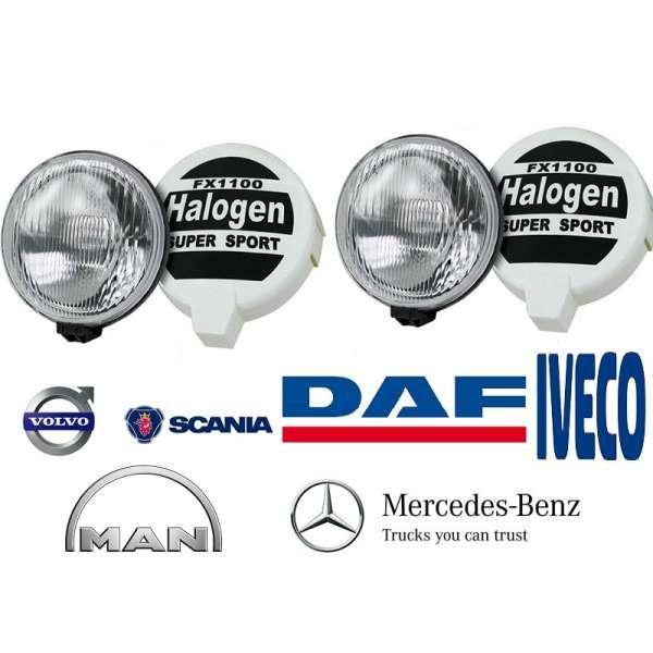 Set Proiectoare Suplimentar Camion Tir  Hella capac protectie Tir 24v 70W  16cm