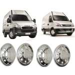 Capace Roti Inox Cromate R16 Iveco Daily 2006-2013 Fata+Spate ( Set 4 buc)