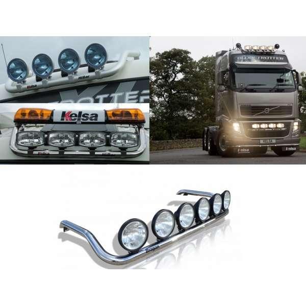 Bullbar/Bara Proiectoare Inox Cabina partea superioara Volvo FH 2003-2012