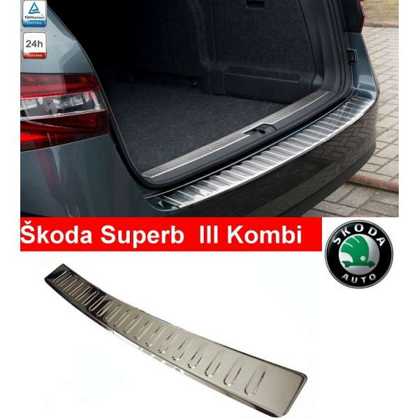 Ornament Inox Portbagaj Skoda Superb Combi III 2015-2016