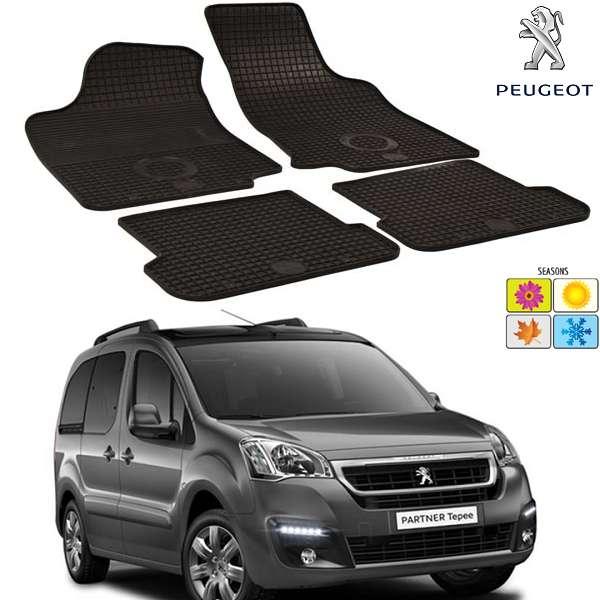 Set covorase auto Hitech din cauciuc Peugeot Partner 2009-2016 5 locuri