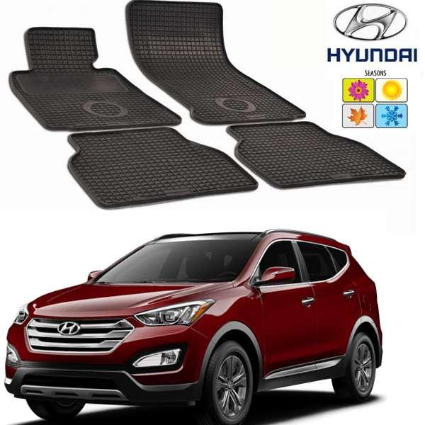 Set covorase auto Hitech din cauciuc  Hyundai Santa Fe  2012-2016