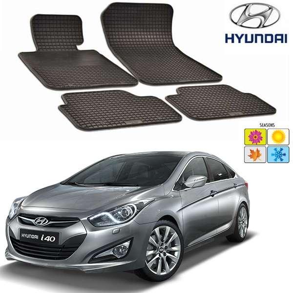 Set covorase auto Hitech din cauciuc Hyundai i40 2012-2016 sedan/wagon