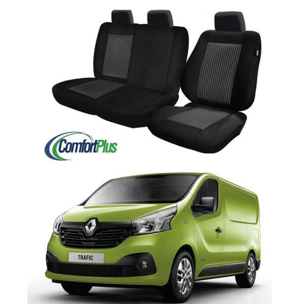 Huse Scaun Renault Trafic 2014-2016 3 locuri  Confort Line