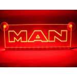 Emblema Man Led  pentru cabina  prindere interioara pe  parbriz led 5 w 12/24v Rosu