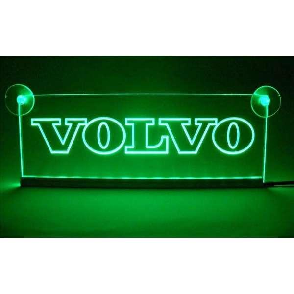 Emblema Volvo Led pentru cabina prindere interioara pe parbriz led 5 w 12/24v Verde