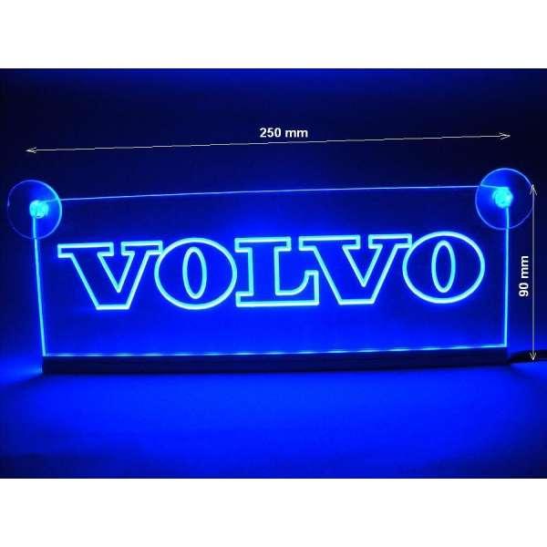 Emblema Volvo Led  pentru cabina  prindere interioara pe  parbriz led 5 w 12/24v Albastru