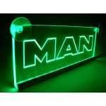 Emblema Man Led pentru cabina prindere interioara pe parbriz led 5 w 12/24v Verde