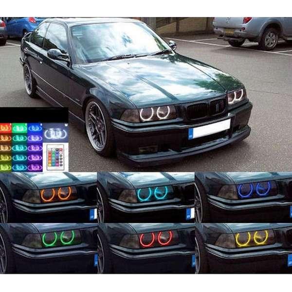 Angel Eyes Multicolor LED cu 16 culori BMW E36 Seria 3