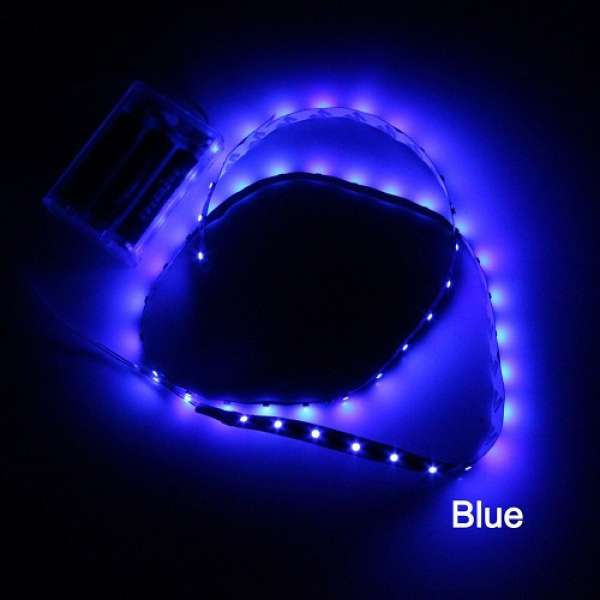 banda flexibila cu led uri lumina albastra 90 cm. Black Bedroom Furniture Sets. Home Design Ideas